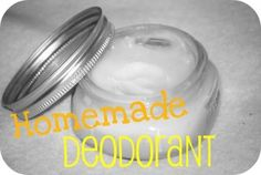 Make your own deodorant!!