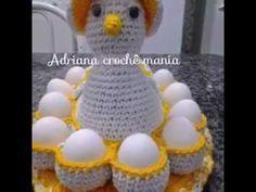 Cesta Porta Huevos Tejido a Crochet Ganchillo - Canasta - YouTube