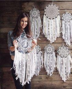 Easy DIY Project to make and sell ~ 82 Easy DIY Project to make and sell ~ Diy Projects To Make And Sell, Diy Crafts To Sell, Diy Crafts For Kids, Sell Diy, Kids Diy, Doily Dream Catchers, Dream Catcher Boho, Crochet Dreamcatcher, Macrame Art