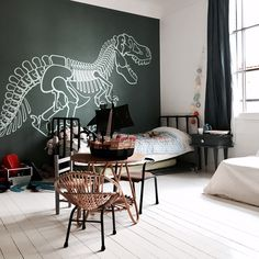Dinosaur Wall Stickers for Kids Room - Great Boys Room Wall Decor by E-Glue Design Studio. #walldecals #wallstickers #dinosaur #boysroom #kidsroom #kidswalldecor