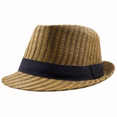 c8358dc8697b0 Great weaving on this straw trilby hat! Get it at CapSwag.com  straw   trilby  summer  summer2018  strawhat  fedora  summerfun  beach  pool   summervibes   ...