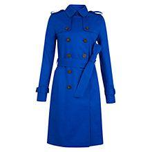Hobbs London Saskia Trench Coat, Bright Cobalt