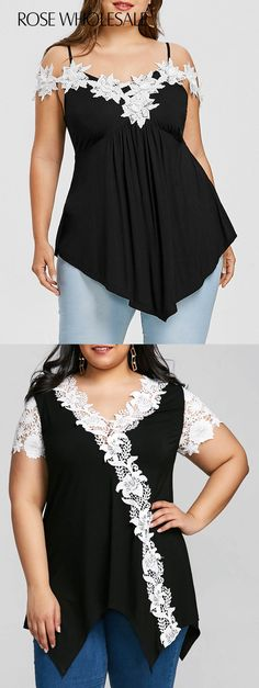 Plus Size Tops, Wholesale Plus Size Blouses & Shirts For Women Online Plus Size Blouses, Plus Size Tops, Plus Size Women, Plus Size Dresses, Plus Size Outfits, Curvy Fashion, Plus Size Fashion, Girl Fashion, Womens Fashion