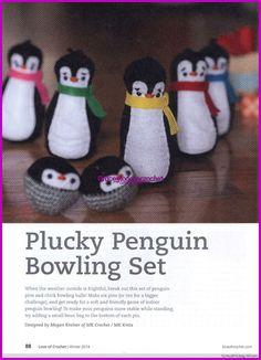 Plucky penguin bowling set...Juego de bolos pingüino valiente!