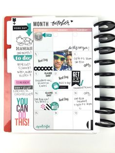 October tracking in The Happy Planner™ Fitness Planner of mambi Design Team member Chantal Stevens   me & my BIG ideas