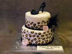 Leopard Print Cake  A Photo On Flickriver love this cake except i would have a microphone on top instead