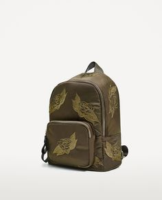 ZARA - WOMAN - EMBROIDERED FABRIC BACKPACK
