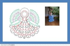 If you can read a crochet chart, you've got the pattern. Crochet Snowflake Pattern, Crochet Leaves, Crochet Snowflakes, Crochet Motif, Crochet Doilies, Crochet Patterns, Crochet Angels, Crochet Stars, Thread Crochet