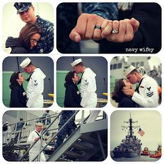 this is so cute | navy love | navy couples | military love