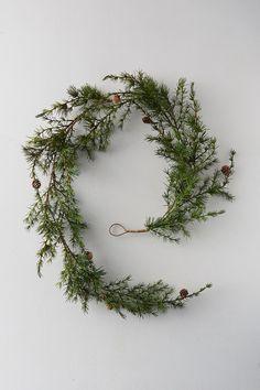 Holiday Ornaments, Holiday Fun, Christmas Holidays, Christmas Decorations, Holiday Decor, Merry Christmas, Green Garland, Leaf Garland, Festival Decorations