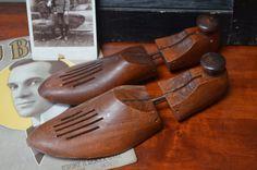 ✿ bluefolkhome on etsy ✿ $Wood Shoe Tree Antique Shoe Stretcher Wood Shoe Form Urban Loft Decor Industrial Decor Masculine Decor Industrial Chic (Pair #1)