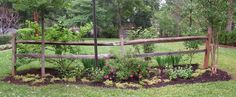 from Garden Rant - front yard landscaping ideas entryway Corner Landscaping, Rustic Landscaping, Acreage Landscaping, Driveway Landscaping, Landscaping Ideas, Driveway Ideas, Fence Ideas, Garden Projects, Outdoor Projects