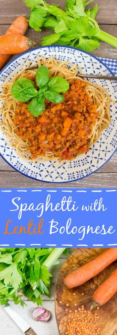 Spaghetti with lentil bolognese, vegan, hearty, delicious, and packed with protein and iron. Perfect for italian pasta nights! #vegan #pasta #lentilbolognese #vegetarian
