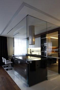 1000 images about ideal home glass partition on - Glass wall panels kitchen ...