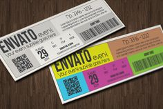 Multipurpose metro style ticket by Tzochko on Creative Market