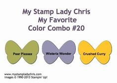 Stampin Up Color Combination: Pear Pizzazz, Wisteria Wonder & Crushed Curry