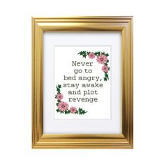 Stay Awake Plot Revenge - Counted Cross Stitch Pattern - Subversive Funny Rude - Life Quote - Instant Download by Valethea on Etsy