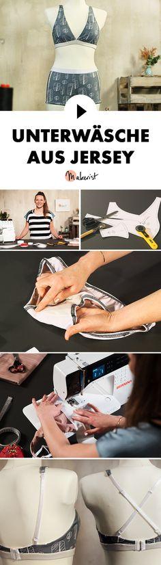 Unterwäsche aus Jersey ist elastisch und gemütlich - Step by Step erklärt im Video-Kurs via Makerist.de