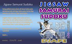 Jigsaw Samurai Sudoku book!  NOTHING BUT irregularly shaped, samurai sudokus in jigsaw sudoku format!