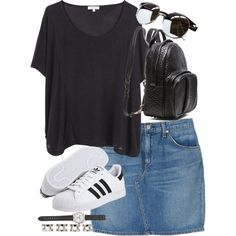 Untitled #2495 by angieswardrobe on Polyvore featuring polyvore, fashion, style, Surface To Air, rag & bone, adidas Originals, Alexander Wang, J.Crew, Maison Margiela and A.J. Morgan