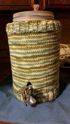 Knitted 1.5 gallon Kombucha Tea Jar Cozy Special Order for JPartney
