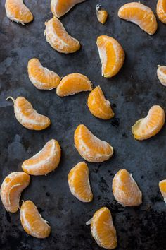 Really loving how tangerine pairs beautifully with charcoal gray.
