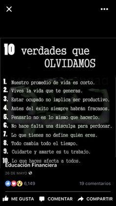 10 verdades que olvidamos