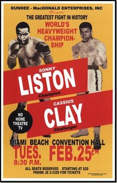 On February 25, 1964, underdog Cassius Clay( Muhammad Ali), age 22, defeats champion Sonny Liston in a technical knockout to win the world heavyweight boxing crown.