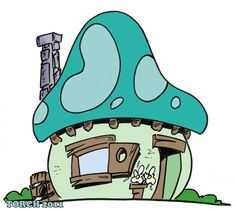 Mushroom house l playhouse l smurf house
