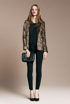 leopard blazer. I love this whole outfit and want to wear an outfit like this one of these days. It's so cute and is totally my kind of outfit.