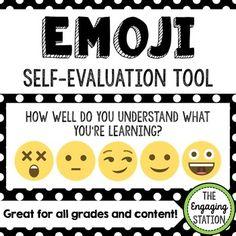 Use this Emoji Self-Evaluation Tool with students so that they can provide you with easy, instant self-evaluation. You will receive a how-to and explanation guide and a copy of the handout that I use. Each sheet provides two emoji self-evaluation tools. Student Self Evaluation, Student Self Assessment, Formative Assessment, Classroom Themes, School Classroom, Classroom Organization, Classroom Management, Teacher Tools, Teacher Resources