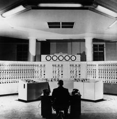 The control room of Grangemouth Oil Refinery, Stirlingshire, Photo: Arthur Tanner/Fox Photos/Getty Images. Oil Refinery, Oil News, Old Computers, Practical Gifts, Retro Futurism, Design Reference, The Past, Room, Image