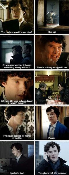 Sherlock - john makes him change in the little ways