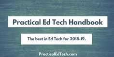 The new school year is here for almost all of us. At this time every year for the last three years I have published my free Practical Ed Tech Handbook. The New School, New School Year, My Teacher, Classroom, Technology, Teaching, Education, Tips, Free