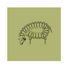 Pablo Amargo - TRASQUILAR (Shear)    Sheep made of shears illustration