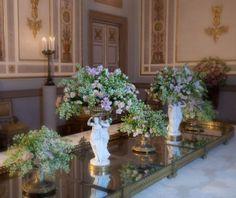 small statues in wonderful scenography Palazzo Reale Venezia