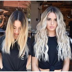 Silver to brunette balayage Cabelo Ombre Hair, Balayage Hair Blonde, Bayalage, Blonde Hair Looks, Blonde Hair With Dark Roots, Brown To Blonde Hair Before And After, White Blonde Hair, Platinum Blonde Hair, Hair Highlights