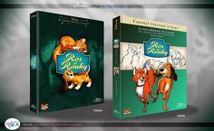 Concept de collection Blu Ray prestige Disney avec fourreau et Digibook : Rox et Rouky & Rox et Rouky 2 ( The Fox and the Hound & The Fox and the Hound 2 ) Walt Disney, Disney Blu Ray, Animation Disney, The Fox And The Hound, The Prestige, Concept, Collection, Books, Livros
