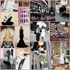 In love with #black and #white #weddings :)