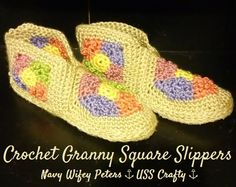 Granny Square Booties ~ USS Crafty