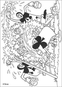 Alice Falling In Wonderland Coloring Pages - Coloring Page