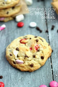 S'mores Cookies with Valentine's tags from Chelsea's Messy Apron