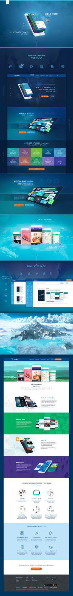 Creating a website design, mobile applications designer (KickAss)
