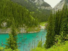 •Rispondi     KAZAKISTAN: LA BELLEZZA DEL LAGO KAINDY E LA SUA FORESTA  The underwater forest of Lake Kaindy.Kaindy è un lago di montagna in Kazakistan. Si dice che si è formato dopo un disastro naturale nella zona che ha bloccato l'ingresso di un canyon e il fiume di montagna lo ha riempito creando questo magnifico lago. La foresta che stava crescendo nel canyon fu coperta dall'acqua. Anche dopo un centinaio di anni la foresta resiste nele profondità del lago.