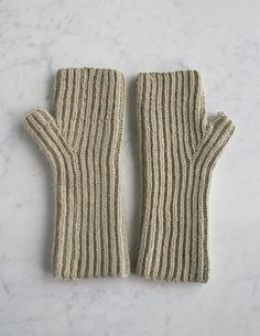 Fisherman's Rib Hand Warmers | Purl Soho