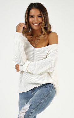 V-neck Long Sleeve Knitting Sweater Crop Top – iawear Casual Fall Outfits, Fall Winter Outfits, Trendy Outfits, City Outfits, Fashion Outfits, Womens Fashion, Crop Top Sweater, Vintage Sweaters, What To Wear