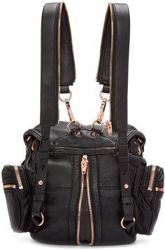 Alexander Wang: Black Mini Marti Backpack | SSENSE