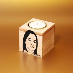 Personalized Candle with the portrait of your choice door ToddBorka, €20.00