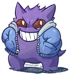 I liked how the Pokemon Gengar is always smiling reminded me of Sans from Undertale. That is what inspired this crossover. I call it... Gengans. Look me up on Facebook, Tumblr, DeviantART and Instagram.