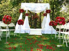 #wedding #canopy #alter
